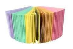 Fantail farbiges Papier des Büros Lizenzfreie Stockfotografie
