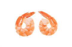 Fantail prawns Stock Photography
