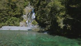 Fantail spadki, Haast przepustka, Mt Aspiruje parka narodowego, Nowa Zelandia zbiory wideo
