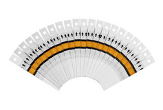 Fantail of the test strips. Fan of the test strips on a white background Royalty Free Stock Photo