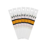 Fantail of the test strips. Fan of the test strips on a white background Royalty Free Stock Photos