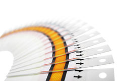 Fantail of the test strips. Fan of the test strips on a white background Stock Photography