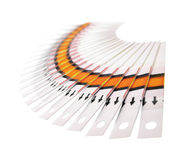 Fantail of the test strips. Fan of the test strips on a white background Stock Images