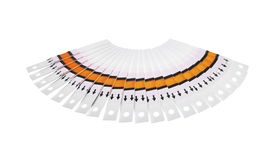 Fantail of the test strips. Fan of the test strips on a white background Stock Photos