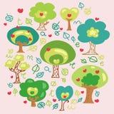 Fantaisie d'arbres de dessin animé Photographie stock libre de droits