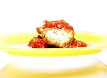 Fantaisie servie par poulet Photo stock