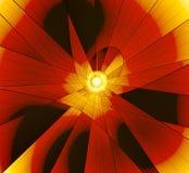 Fantasía anaranjada. Estrella ilustración del vector