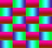 Fantasía con el fondo rosado, amarillo, azul y verde Fotografía de archivo
