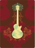 Fantasía de la guitarra stock de ilustración