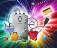 Fantasía del comercio electrónico Foto de archivo