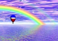 Fantasía del globo del arco iris Imagen de archivo libre de regalías