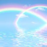 Fantasía doble del arco iris Imágenes de archivo libres de regalías