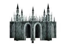 fantasía Dragon Castle de la representación 3D en blanco Foto de archivo libre de regalías