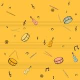 Fantasía musical en tonos amarillos ilustración del vector