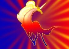 Fantasía del unicornio Fotografía de archivo