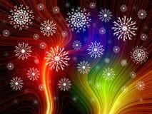 Fantasía multicolora de la Navidad Foto de archivo