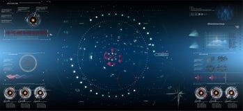 Fantascienza HUD Dashboard Display futuristico Schermo di tecnologia di realtà di Vitrual EPS10 illustrazione vettoriale