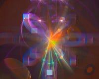 Fantasi för energi för begrepp för abstrakt för flamma digital för fractal framtida vibrerande för elegans rörelse för effekt ski vektor illustrationer