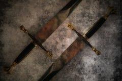 Fantasi för två svärd Arkivbild