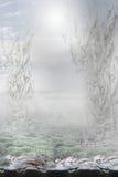 fantasi Gåtfull overklig bakgrund Royaltyfria Bilder