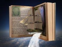 Fantasi läsning, bok, berättelse, sagobok Arkivfoton