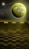 fantasi mitt planet Arkivbilder