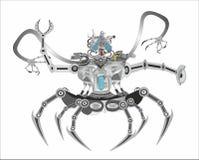 Fantasi robot, terminator vektor illustrationer