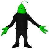 Fantasi Toon Alien Arkivfoton