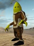 Fantasi Toon Alien Arkivfoto