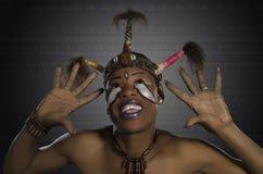 Fantasia africana da beleza Fotos de Stock