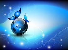Fantasia astratta blu Fotografia Stock Libera da Diritti