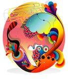 Fantasia astratta di colore Immagini Stock
