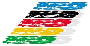 Fantasia con i colori olimpici Immagini Stock