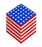 Fantasia cubica della bandierina degli S.U.A. immagini stock libere da diritti