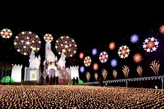 Fantasia 2018 da flor do parque da flor de Ashikaga foto de stock royalty free