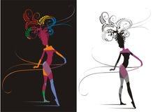 Fantasia da mulher do carnaval Foto de Stock