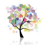 Fantasia dell'albero di arte illustrazione vettoriale