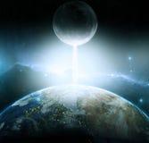 Fantasia della luna e della terra Fotografia Stock Libera da Diritti