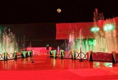 Fantasia delle luci sotto la luna Fotografie Stock