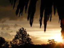 Fantasia di tramonto e della nuvola Immagini Stock Libere da Diritti
