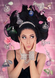 Fantasia do perfume na gravidade zero Imagens de Stock Royalty Free