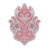Fantasia floreale Elemento decorativo d'annata dell'ornamento Reticolo di fiore Motivi tradizionali, arabi, turchi, etnici, india illustrazione di stock
