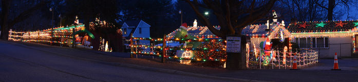 Fantasia maravilhosa das luzes de Natal Imagem de Stock Royalty Free