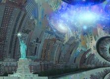 Fantasia NYC illustrazione vettoriale