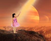 Fantasia, surreale, immaginazione, pianeta straniero fotografie stock