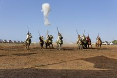 fantasia tradicional em Marrocos Fotografia de Stock Royalty Free