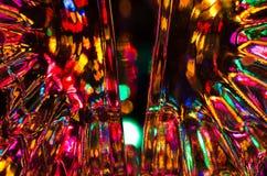 Fantasibakgrund av ljust och färgrikt ljus Arkivbilder