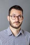 Fantasibegrepp för den manliga chefen för 20-tal med skägget Royaltyfri Bild