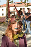 Fantasicosplayer på Lucca komiker och lekar 2014 Arkivfoto