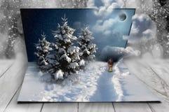 Fantasie des neuen Jahres in meinen süßen Träumen, Weihnachten Stockbild